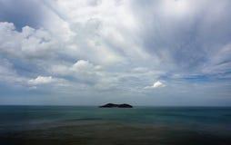Eine entfernte Ansicht von Hailv-Insel in Weihai, Shandong Provinz, China Stockbilder