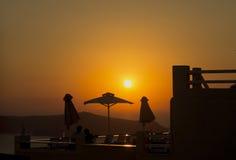 Eine entspannende Sonnenuntergangansicht Lizenzfreie Stockfotos