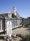 Eine ernste Markierung von altem Tucson, Tucson, Arizona Stockbild