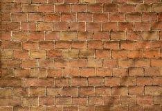 Eine erose Backsteinmauer Stockfoto