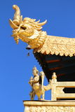 Eine errichtende Ecke Jokhang-Tempel Lizenzfreie Stockfotos