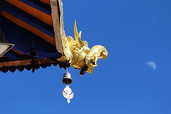 Eine errichtende Ecke Jokhang-Tempel Stockbild