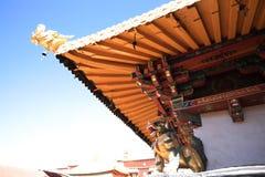 Eine errichtende Ecke Jokhang-Tempel Lizenzfreies Stockbild
