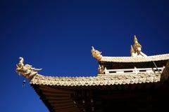 Eine errichtende Ecke Jokhang-Tempel Stockbilder