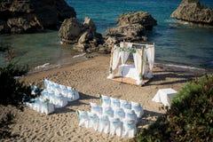 Eine erstaunliche Hochzeitszeremonie im Freien Lizenzfreies Stockbild