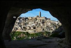 Eine erstaunliche Innenansicht eine Höhle lizenzfreie stockbilder