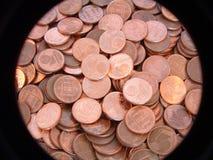 Eine Eurocentmünze stockbild