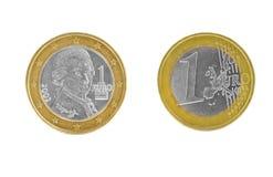 Eine Euromünze Lizenzfreies Stockbild