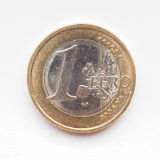 Eine Euromünze Stockbild