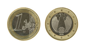 Eine Euromünze Lizenzfreie Stockfotos