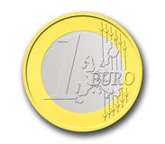 Eine Euromünze Stockbilder