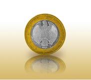 Eine Euromünzenflagge in einer Münze Lizenzfreie Stockfotos