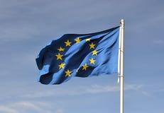 Eine Europa-Flagge Lizenzfreies Stockbild