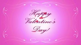 Eine Explosion eines Herzens, von dem Schmetterlinge und der Text ` glückliche Valentinsgruß ` s Tag herauskommen! ` stock footage