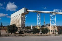 Eine Fabrik für die Bereicherung des Lehms Lizenzfreies Stockfoto
