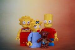 Eine Familie Simpson Lizenzfreies Stockfoto