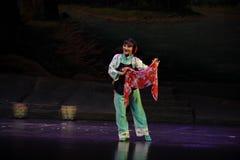 Eine farbige Schal Jiangxi-Oper eine Laufgewichtswaage Stockfoto