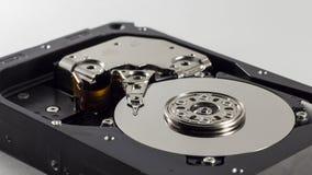 Eine Festplatte auf einem weißen Hintergrund Lizenzfreies Stockfoto