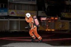 Eine Feuerszene Stockbilder