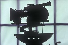 Eine Filmbildkamera Arriflex 16mm für Hollywood-Filmindustrie Lizenzfreies Stockfoto