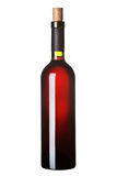 Eine Flasche Rotwein. Lizenzfreies Stockfoto