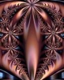 Eine fractal-Blumen-Anordnung Stockbilder