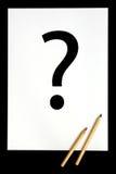 Eine Frage Stockfotos