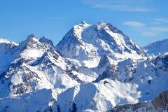 Eine französische alpine Höchstszene stockbild