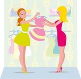 Eine Frau in der Kleidung Wertpapierkäufe des Berufshandels Stockbild