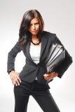 Eine Frau im Büro Stockfotos