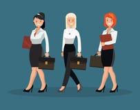 Eine Frauengruppe in den weißen Hemden Lizenzfreie Stockfotos