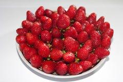 Eine frische, appetitanregende Erdbeere Lizenzfreies Stockfoto