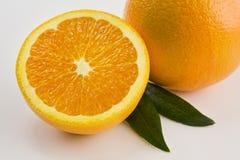 Eine frische Schnitt-Orange Stockfotografie