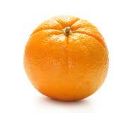 Eine frische und geschmackvolle einsame Orange auf Weiß Stockfoto