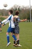 Eine Fußball-Fußbalabgleichung Stockbild