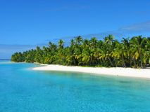 Eine Fuss-Insel, Koch-Inseln Lizenzfreies Stockfoto