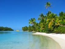 Eine Fuss-Insel, Koch-Inseln Lizenzfreie Stockfotografie