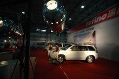 Eine Galaxie des berühmten Autoautoausstellungsstandorts Stockbilder