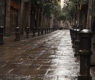 Eine Gasse in Barcelona Stockfoto