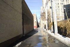 Eine Gasse in der Südseite Chicago 2 Lizenzfreie Stockfotos