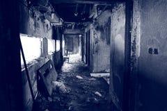 Eine gebrannte Szene innerhalb eines Gebäudes Stockfoto