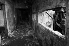 Eine gebrannte Szene innerhalb eines Gebäudes Lizenzfreie Stockbilder