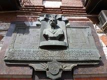 Eine Gedenktafel zu Alfred von Vacano Stockfotografie