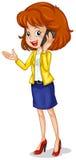 Eine Geschäftsfrau, die ein Mobiltelefon verwendet Stockfoto