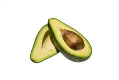 Eine geschnittene Avocado stockfotografie