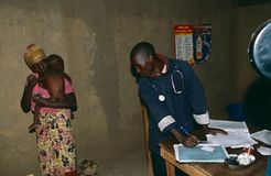 Eine Gesundheitsklinik in Uganda. Stockfoto