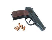 Eine Gewehr und Gewehrkugeln Lizenzfreies Stockbild