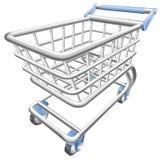 Eine glänzende Einkaufswagenlaufkatzeabbildung Lizenzfreie Stockfotos
