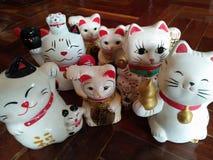 Eine glückliche Katzenfamilie Stockfoto