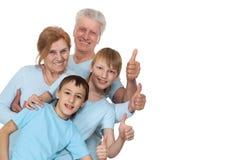 Eine glückliche vierköpfige Familie lizenzfreies stockfoto
